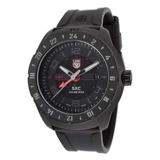 Luminox Men's SXC 5020 Space Series GMT Black Silicone and Dial Red GMT Hand