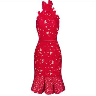 AMAZING BRAND NEW RED LACE DRESS