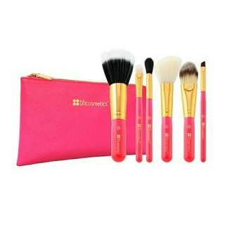 6 Pcs NEON PINK BRUSHES BH COSMETICS