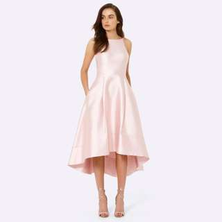 Lexie Structured Dress Size 8 ,Baby Pink ,High-Low