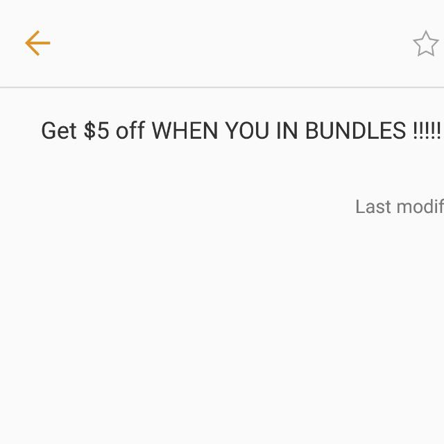 $5 Off When You Buy In Bundles.  From 12/7/16-12/24/12