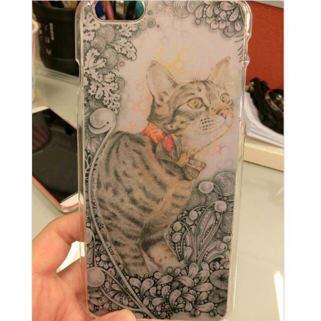 降!!!手繪壓印透明手機殼-貓咪🐈🐈
