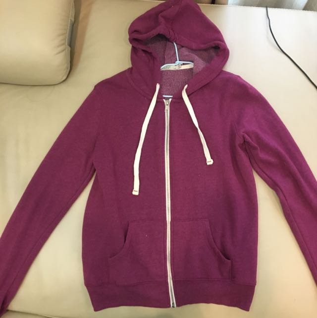 紫色連帽休閒運動外套