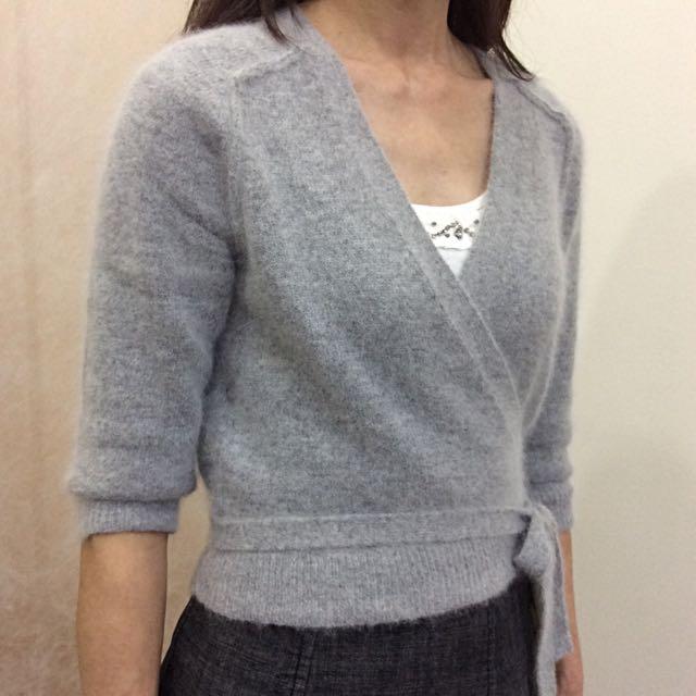 ❤️降降降❤️灰色綁帶毛衣