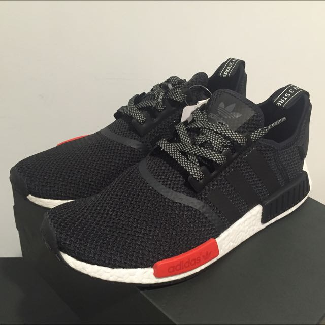 07a948b69c57e NMD R1 Black Solar Red (Footlocker Exclusive)