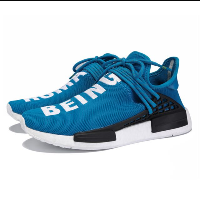 buy best shoes pre order Authentic Adidas NMD Blue Human Race