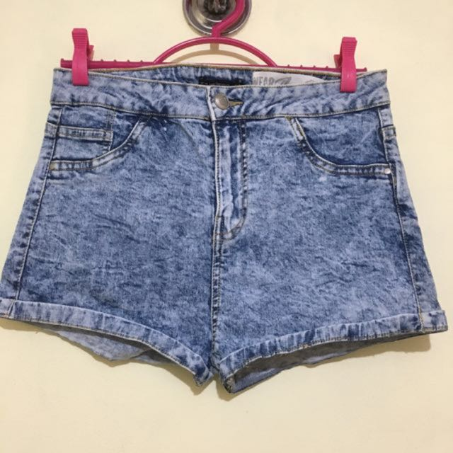 Bershka Highwaist Denim Shorts