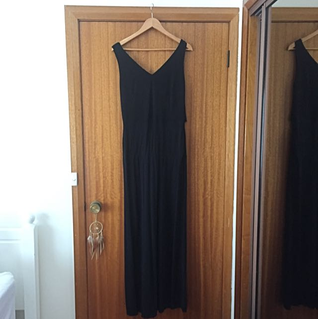 Black Full Length Evening Dress