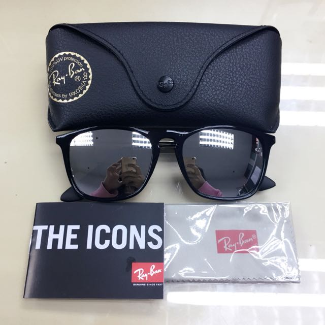 799fbe0508b1 BNIB Authentic Rayban RB4187 601/30 Chris Silver Mirror 54mm, Luxury,  Accessories on Carousell