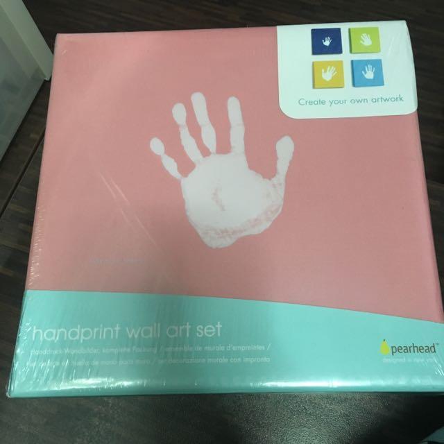Brand New Pearhead Handprint Wall Art Set, Babies & Kids, Others on ...
