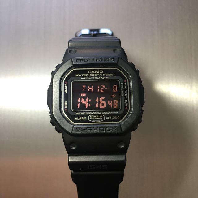 CASIO手錶G-SHOCK軍事武裝風DW-5600MS防震耐摔防水200M