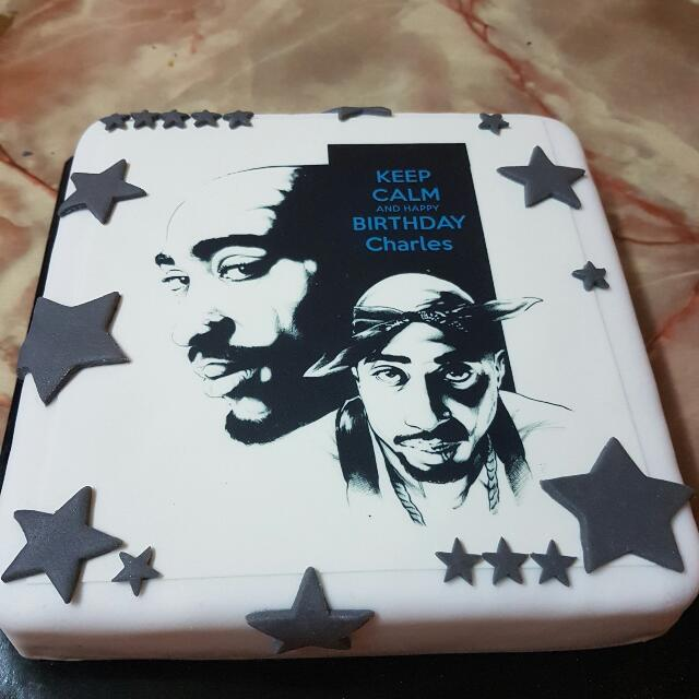 Chocolate Moist Cake With Tupac Edible Print Looking For On Carousell