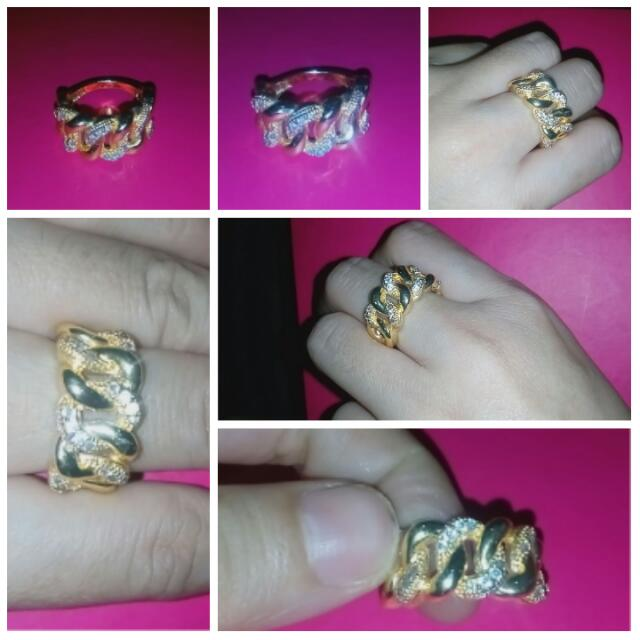 Xuping Classic Gold Chain Ring