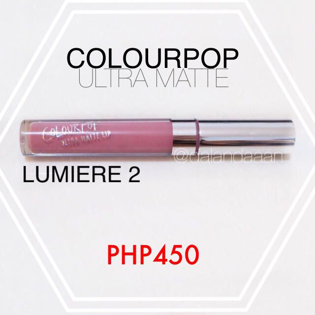 Colourpop Ultra Matte Lumiere 2