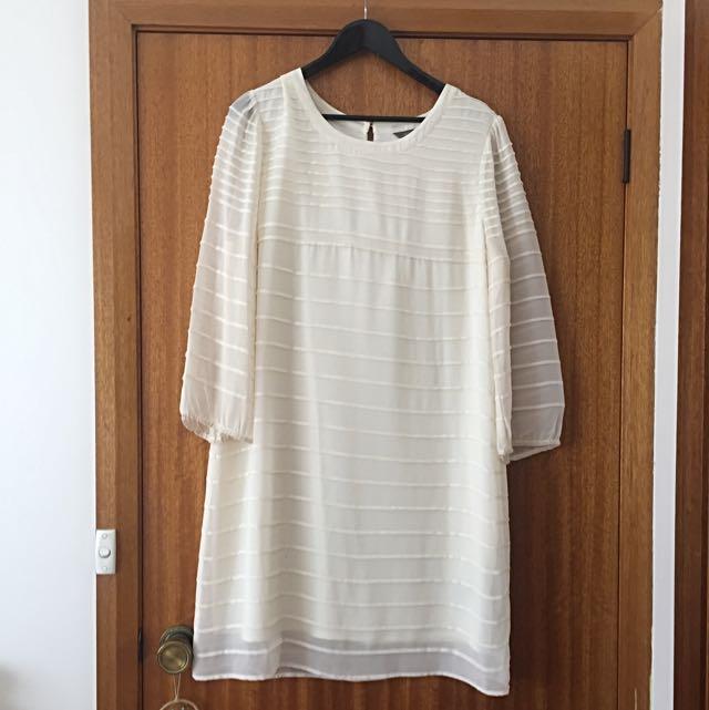Cream Shift Dress