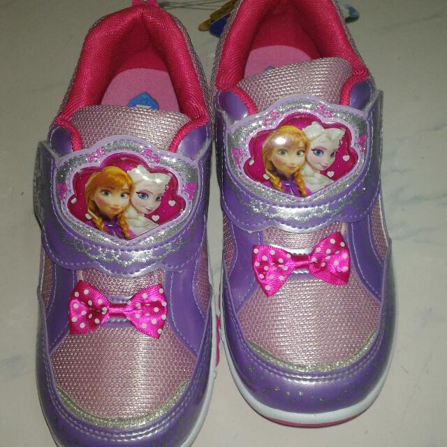 Disney 冰雪奇緣女童鞋 22cm 會發光