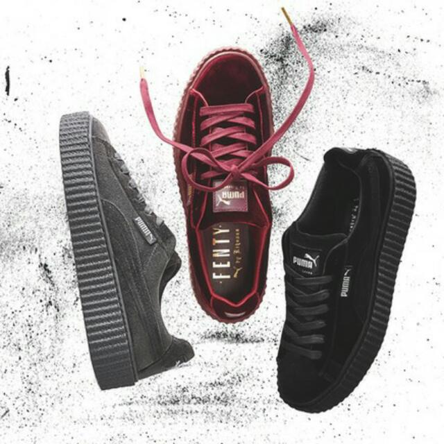 online retailer f02e0 2c587 Fenty x Puma Rihanna Velvet Creepers