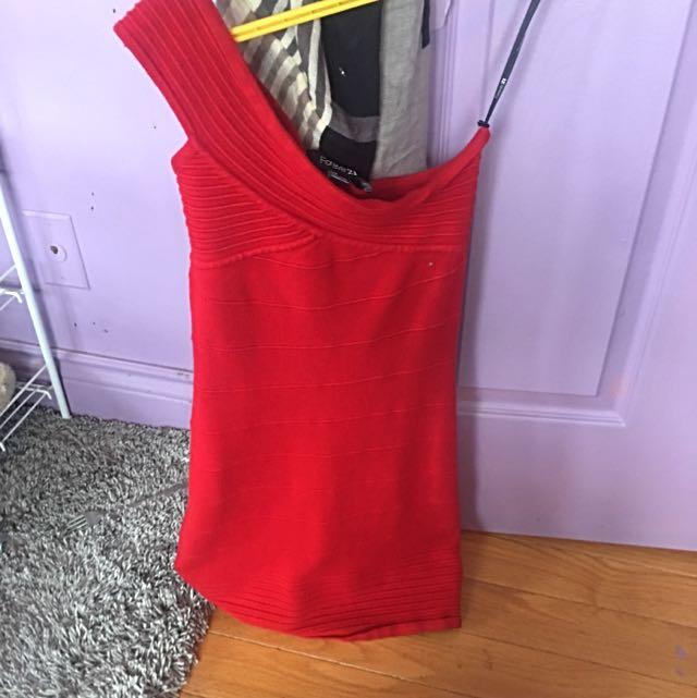 Forever 21 one shoulder dress