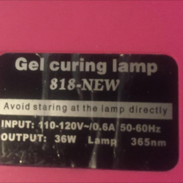 Gel Curing Lamp (for Gel Polish/Shellac)
