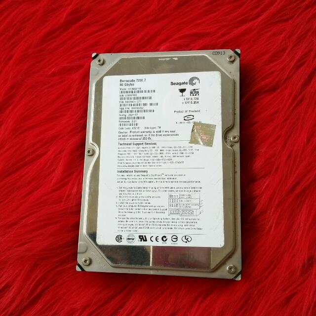 Hardisk Seagate IDE / PATA 80 GB