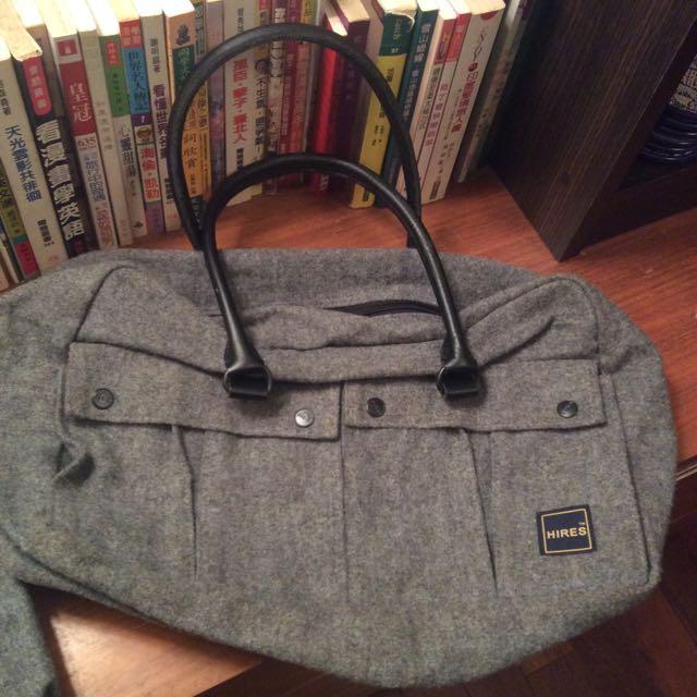 Hires 灰色 中性 包包 肩背 手提