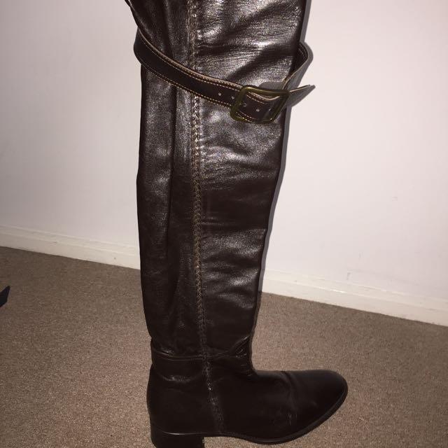 Italian Made Thigh High Boots
