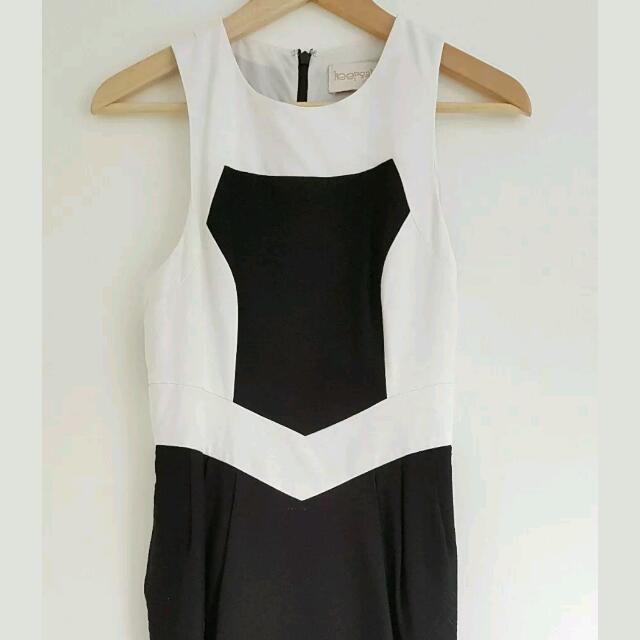 Keepsake The Label Black White Dress