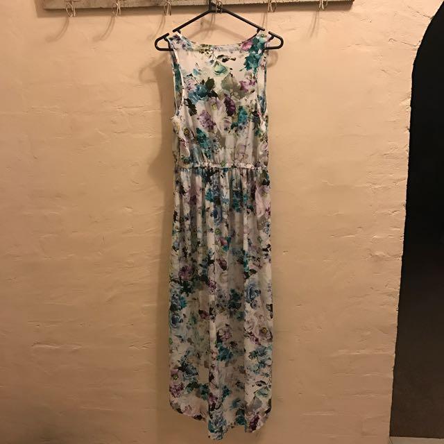 Long Flowing Festival Flower Dress