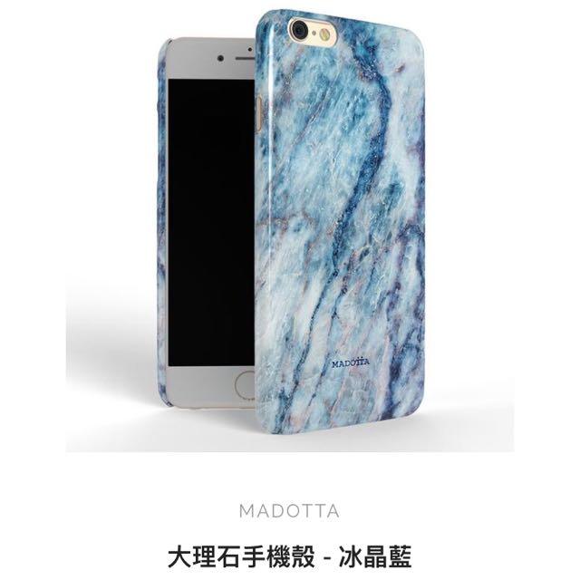 MADOTTA 大理石手機殼 - 冰晶藍 Iphone6 Plus