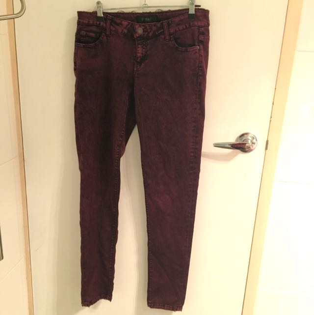 Maroon CP Jeans 'worn look' Bought In USA