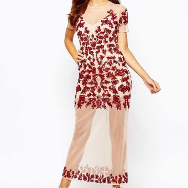 Maya Red Sequin Dress