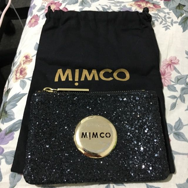 Mimco Black Sparks Fly Pouch (Small)