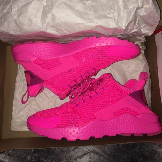 New Women's Nike Air Hurache Run Ultra Breeze Pink Blast