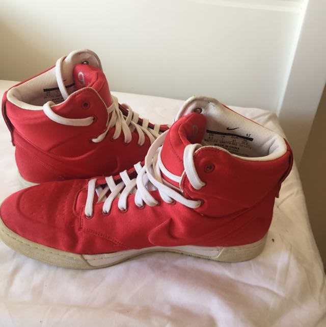 NIKE limited Edition Red Satin Shoes