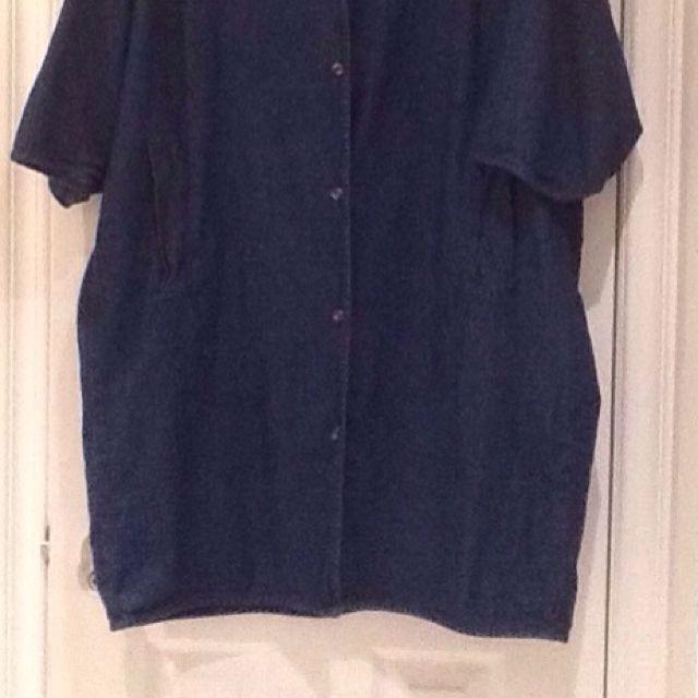 Oak And Fort Denim Dress/Tunic W Pocket Detail