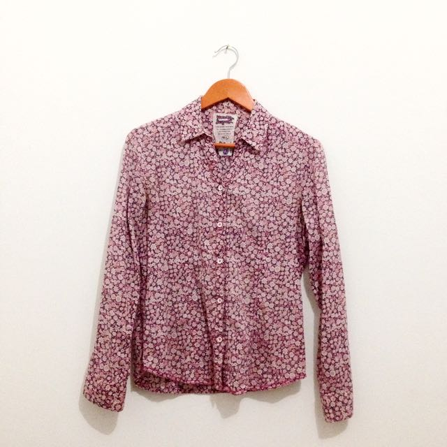 Pink Flower Shirt Ninety Deegres