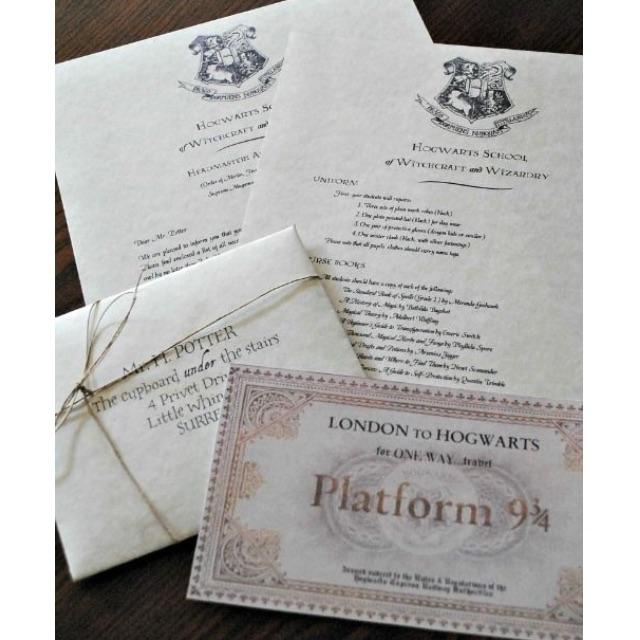 Platform 9 34 acceptance letter harry potter hogwarts photo photo stopboris Images