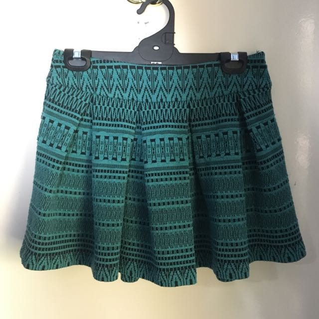 Pleated Aztec Mini Skirt Zalora Size S