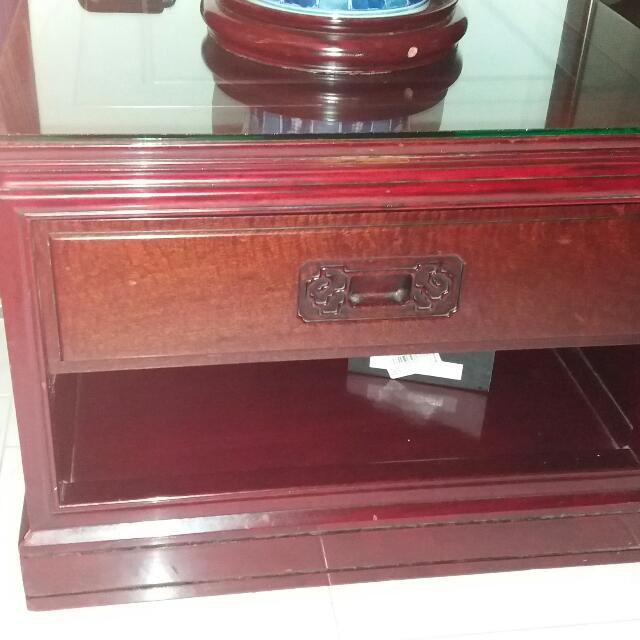 ROSEWOOD SIDE CABINET DRAWER