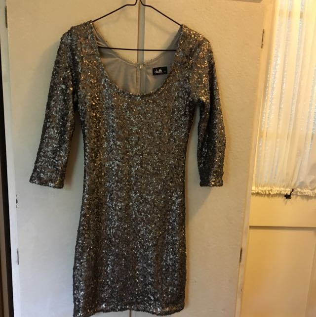 Sequins 3/4th Sleeved Dress