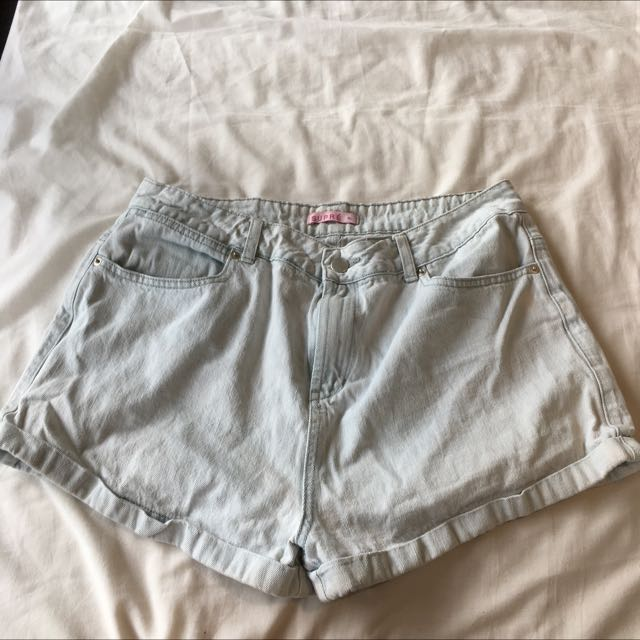 Supre Lightwash Denim Shorts
