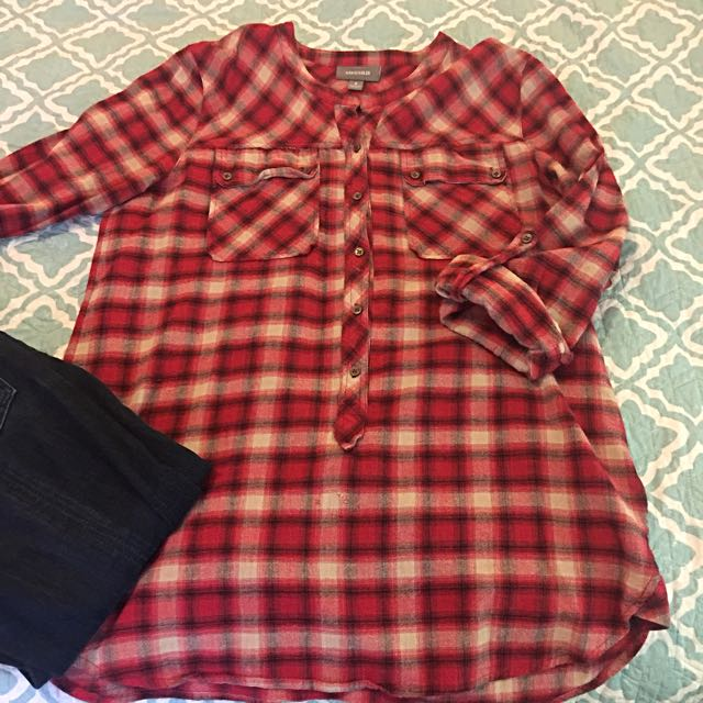 Sussan Tartan Cotton Top s8