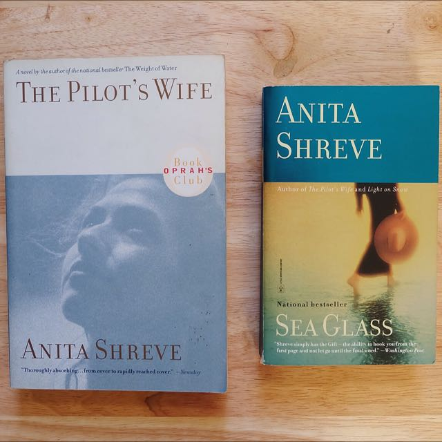 The Pilot's Wife And Sea Glass By Anita Shreve (Sold As Set)
