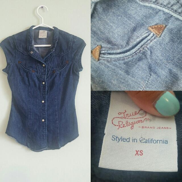 True Religion Denim Top