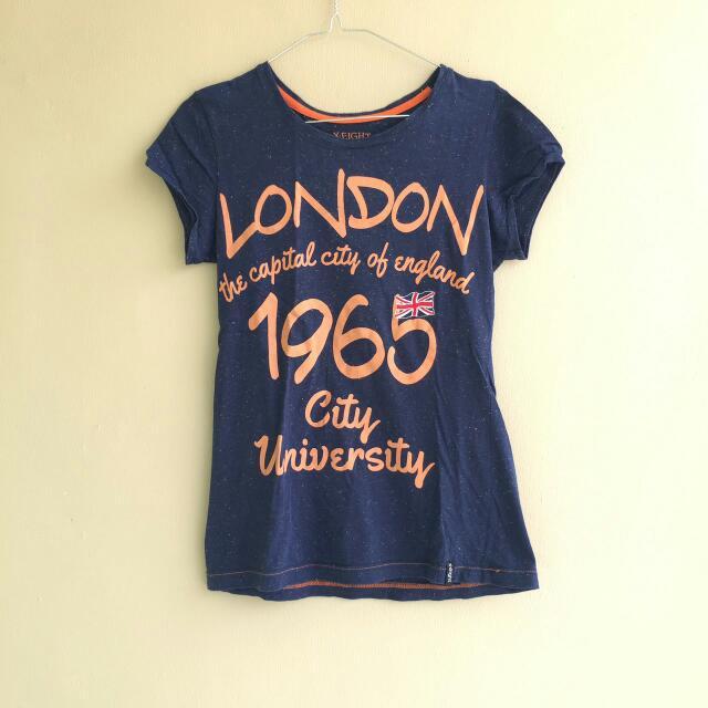 X-EIGHT Blue T-shirt