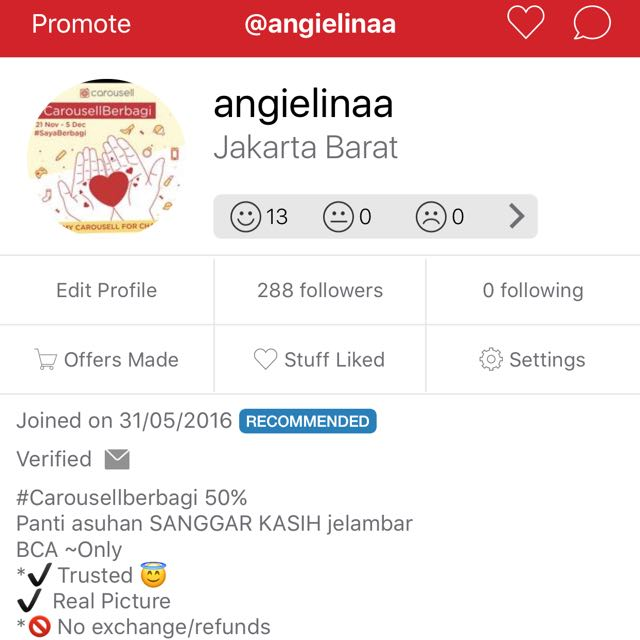 Yas RECOMMENDED Many Thx To Our Loyal Customers And Team Carousell