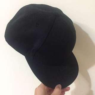 素面鴨舌帽(黑)