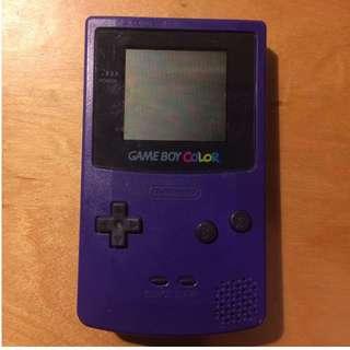 Nintendo Gameboy Color (Grape Purple) colour - 30 Day Warranty!