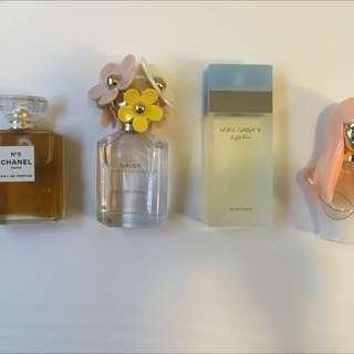 Daisy Marc Jacobs 75ml, Chanel N 5 Eau De Parfum, Pink Friday By Nicki Minaj 50ml And Dolce & Gabbana Light Blue 100ml