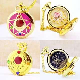 🚚 美少女戰士 復古懷錶 美少女懷錶 手錶 情人節禮物 閨蜜 交換禮物 送禮 女錶 動漫